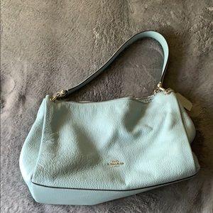 Light blue Coach shoulder bag